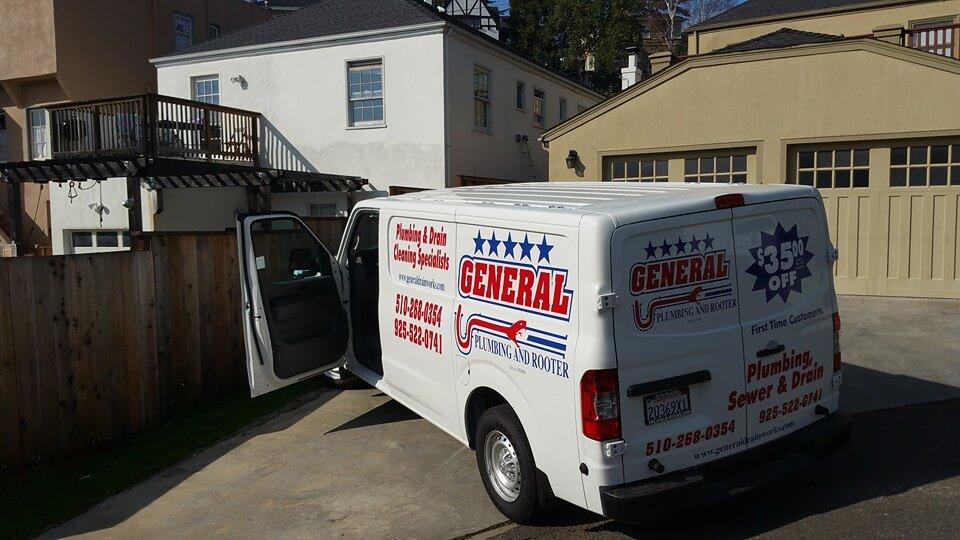 general plumbing and rooter van